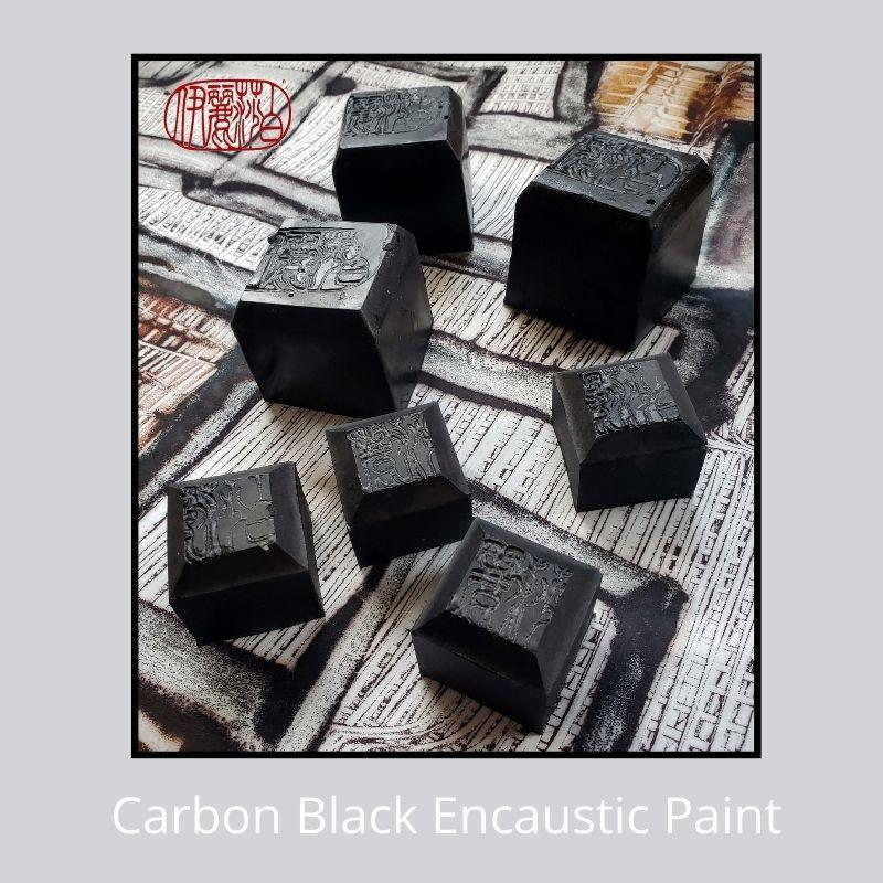 Carbon encaustic paint