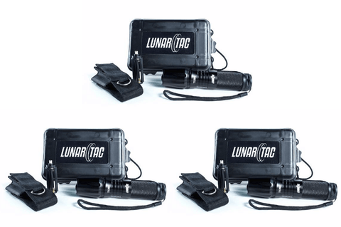 3 PACK: LunarTAC T1200 Tactical Flashlight