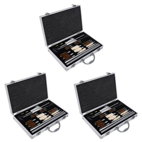 3 PACK: Premium 78-Piece Rifle, Shotgun & Pistol Cleaning Kit