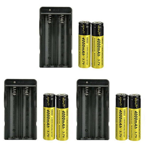 Hunting - 3 PACK: Extra Batteries + Smart Chargers