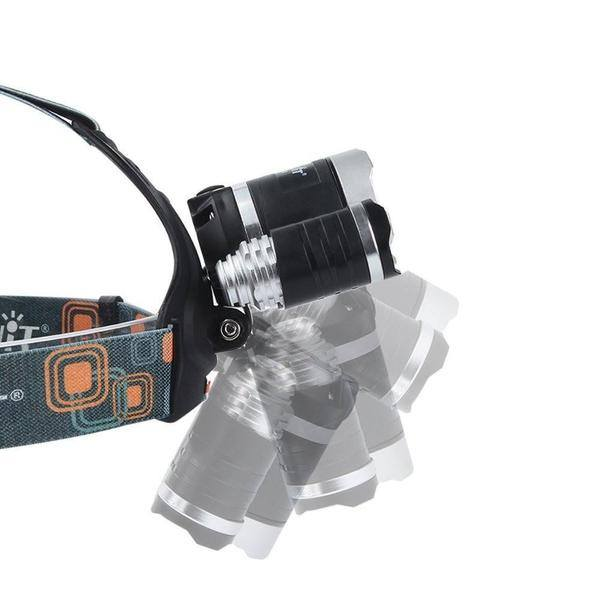 Hunting - Blue Colored ULTRA-TRACKER LED Rechargeable Headlamp