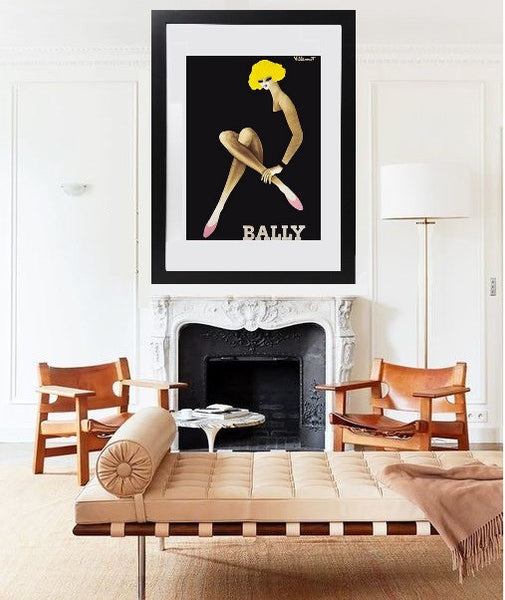 Framed Bally Yellow Print