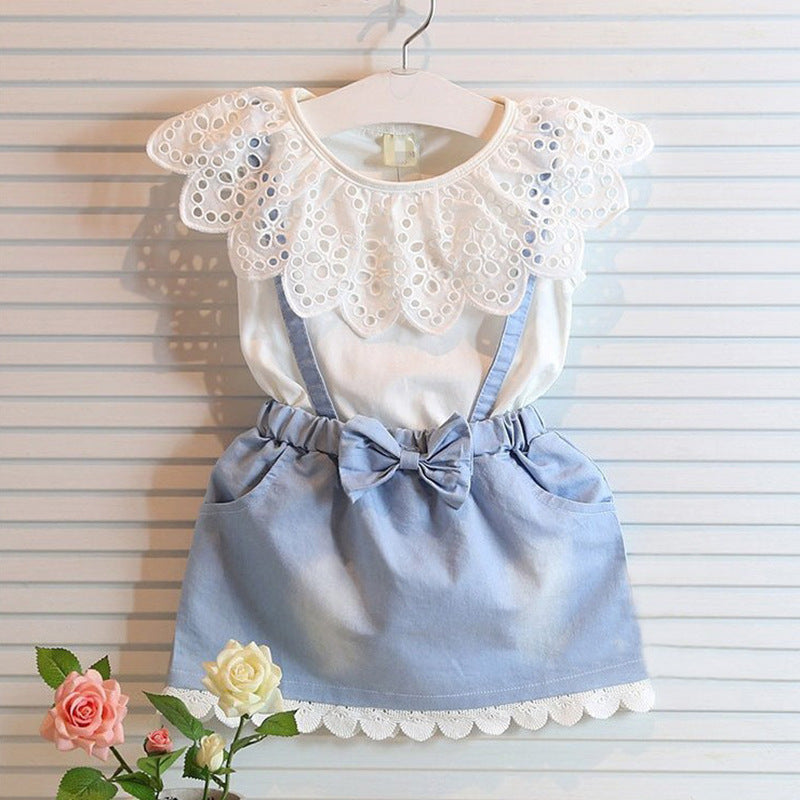 Combo Cotton Denim Dress