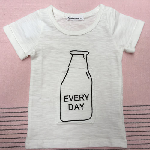 Milk Every Day Tee-Shirt - top - Mozayn fashion boys and girls