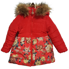 Winter Hooded Puffer Coat Floral - Coats - Mozayn fashion boys and girls