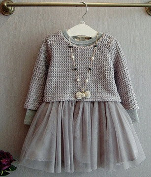 Knitted Combo Dress - Dress - Mozayn fashion boys and girls