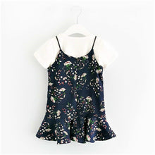 Floral Print Dress with White T-Shirt - Dress - Mozayn fashion boys and girls