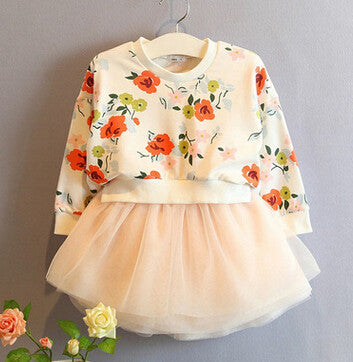 Flora Sweater Combo Dress - Dress - Mozayn fashion boys and girls