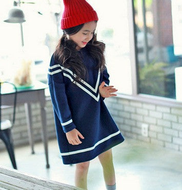 Drop-Shoulder Dress - Dress - Mozayn fashion boys and girls