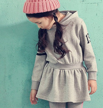 Hooded Soft Jersey Dress - Dress - Mozayn fashion boys and girls