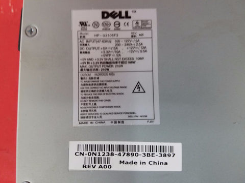 Dell 210W Optiplex 270 Power Supply 0W5184 T0259 N1238 NPS-210AB