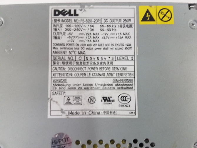DELL Optiplex GX280 Dimension 4700 ATX Power Supply Unit PSU H22678 W4827