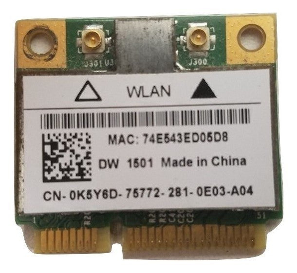 BROADCOM 4313 BCM94313HMG2L WIFI WIRELESS CARD K5Y6D & WHDPC