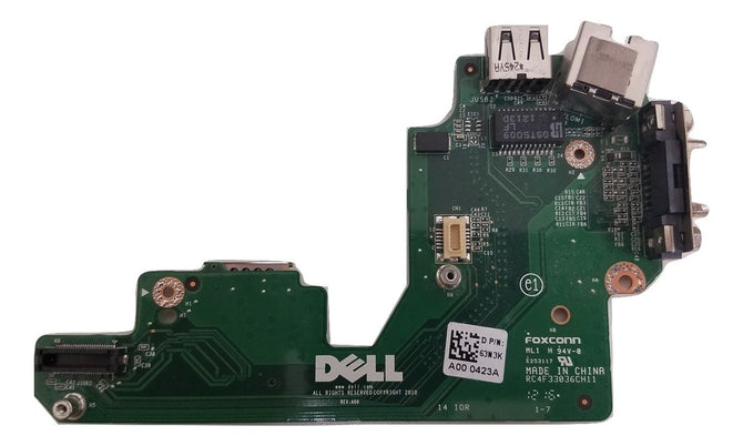 Genuine Dell Latitude E5420 VGA USB PORT BOARD P/N 63N3K