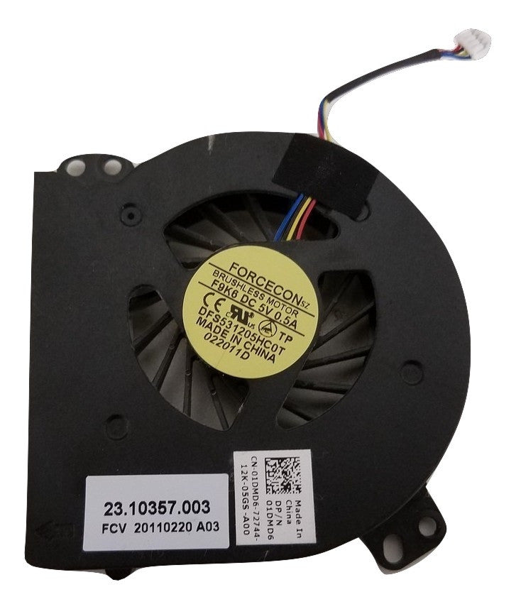 Dell Latitude E5410 Cooling Fan 1DMD6 DFS531205HC0T 23.10357.003