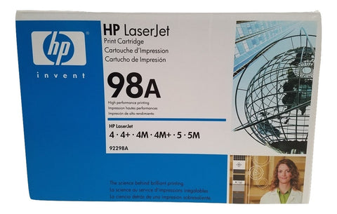 GENUINE HP 98A 92298A Sealed Black Toner~Laserjet 4/4+/4M/4M+/5/5M/5N