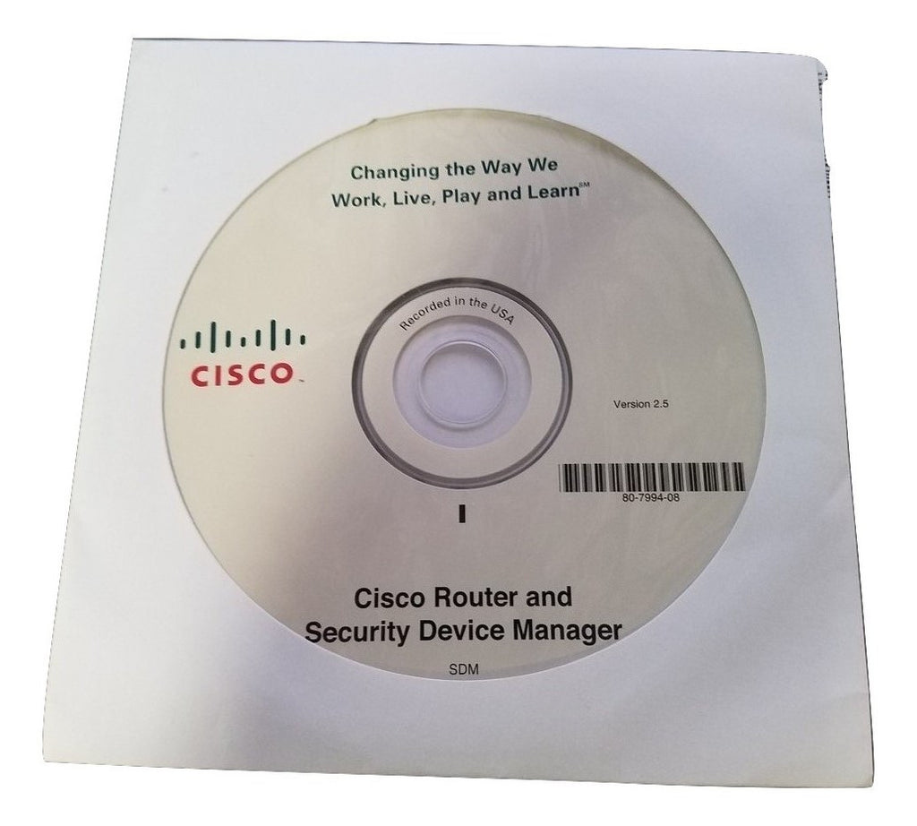 Cisco Router and Security Device Manager Driver - 80-7994-08 85-5059-07 CD Disc