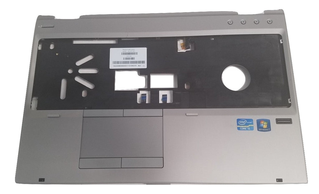"HP EliteBook 8560p 15.6"" Palmrest Touchpad ~641207-001~ Fingerprint"