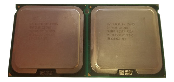 Lot of 2 Intel Xeon E5405 SLBBP Quad Core CPU Processor 2GHz 12M 1333MHz LGA771