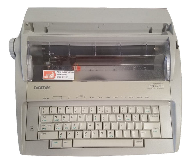 Brother GX-6750 Daisy Wheel Electronic Typewriter with ribbon cartridge