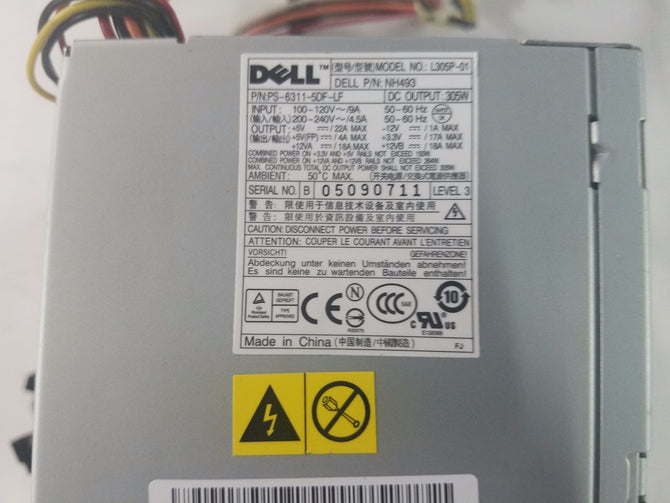 Dell 305W NH493 Power Supply L305P-01