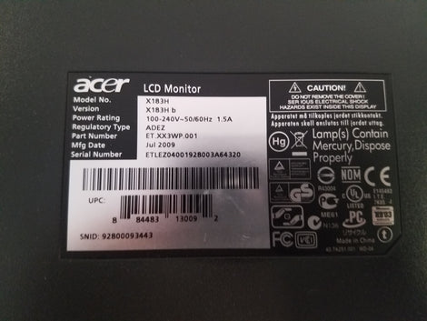 Acer X183H 18.5