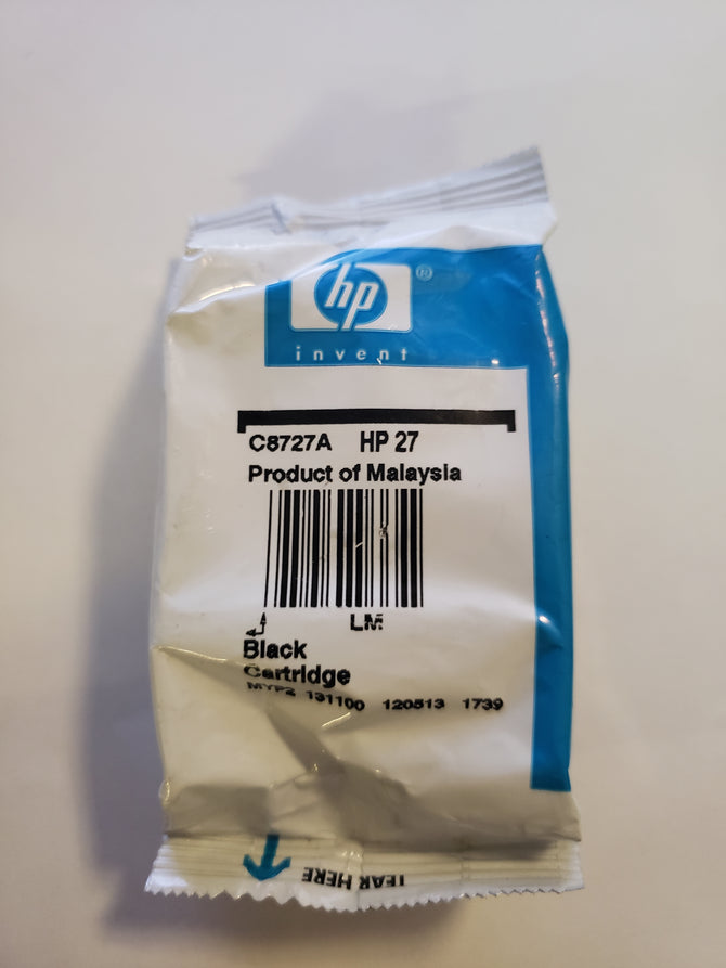 NEW Genuine HP 27 BLACK INK CARTRIDGE C8727A