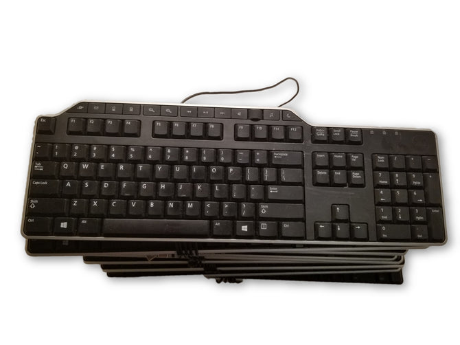 Lot 10 Dell Multimedia USB Wired Keyboard 7KKPH KB-522