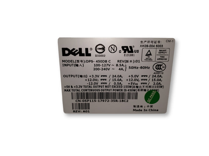 Dell Power Supply DPS-450DB C REV:01 450W 5P115