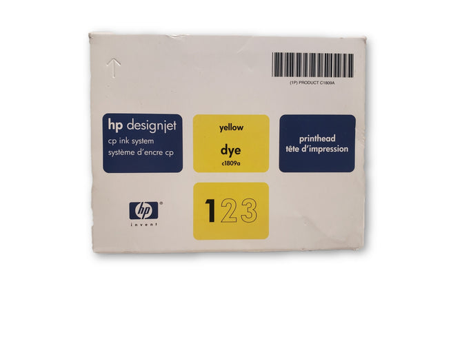 NEW GENUINE HP DESIGNJET 2500CP Yellow C1809A 3000 3500 3800