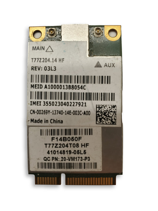 Dell DW5630 Qualcomm Gobi 3000 Mini PCIe Wifi Card PKRNVWE396-D 0269Y