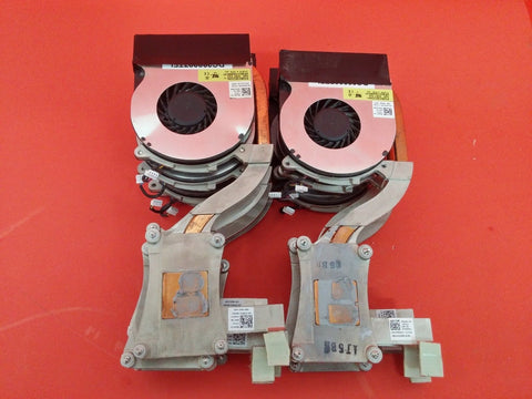 Dell Latitude E6410 E6510 CPU Heatsink TNP01 & Cooling Fan 4H1RR (Lot of 10)