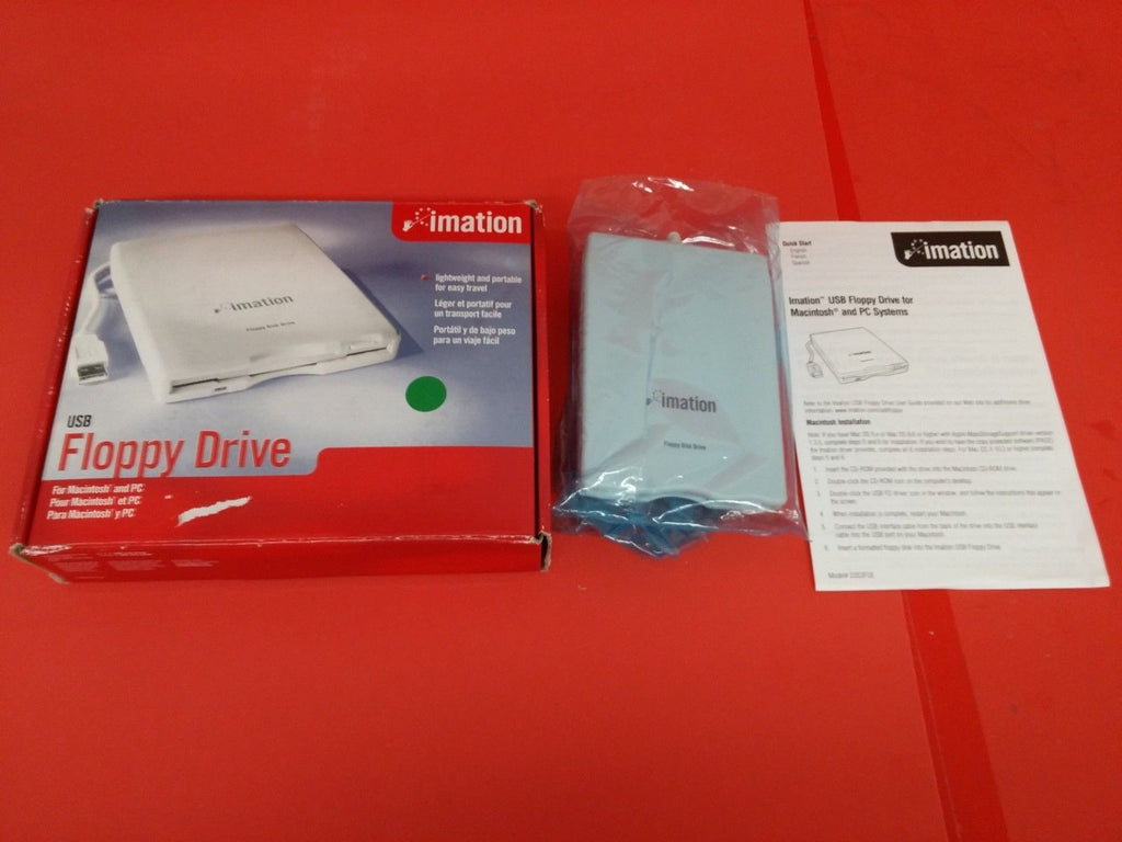 "Imation Mitsumi 3.5"" 1.44MB USB Floppy Disk Drive D353FUE White"