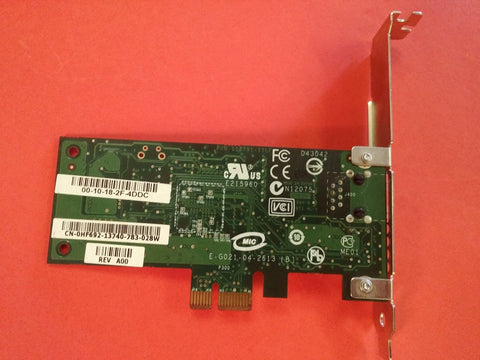 BROADCOM NetXtreme Gigabit BCM5751 PCI-E Express Dell part no Hf692