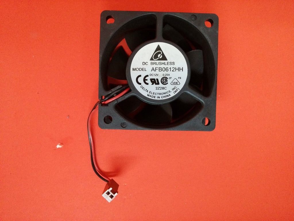 Delta AFB0612HH  DC12V,  0.25A, 60 x 60 x 25mm  2 Wire/2 Connectors Fan