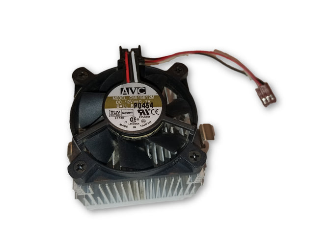 AVC C5515B12M HEATSINK & FAN DC 12V 0.1A BALL BEARING, 8004974, 3-WIRE