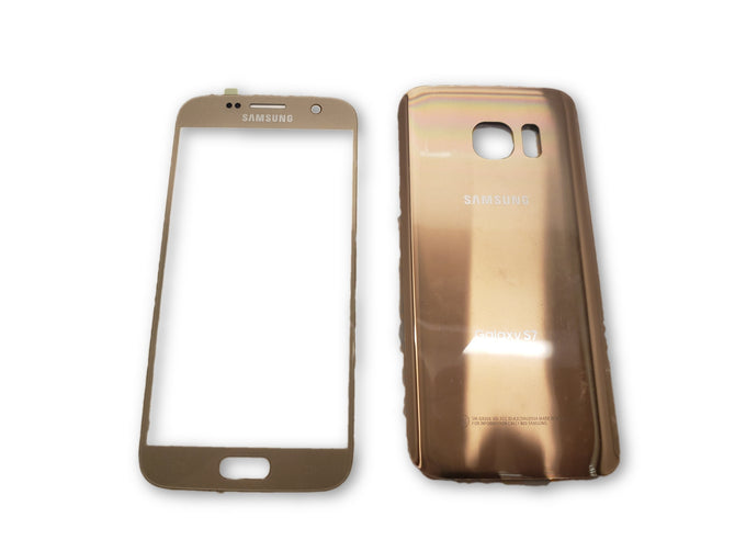 Samsung GALAXY S7 Outer Front Touch Screen & Back Cover Gold
