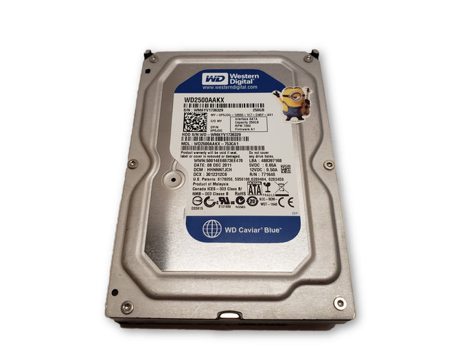 "Western Digital Caviar Blue 250GB Internal 7200RPM 3.5"" WD2500AAKX HDD"
