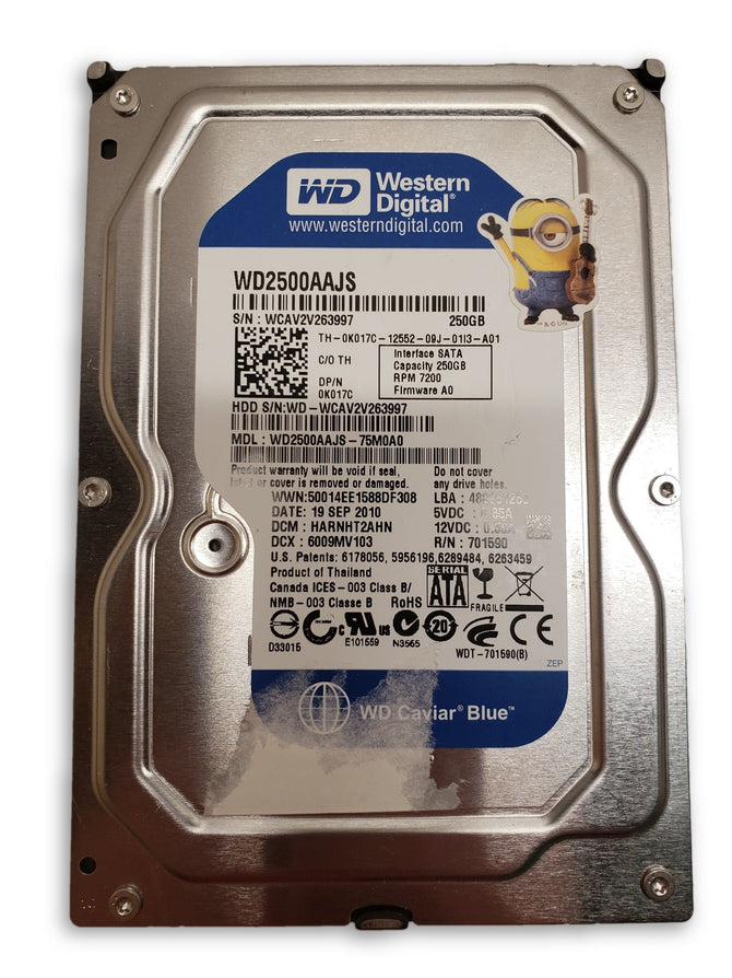 "Western Digital Caviar Blue 250GB Internal 7200RPM 3.5"" WD2500AAJS HDD"