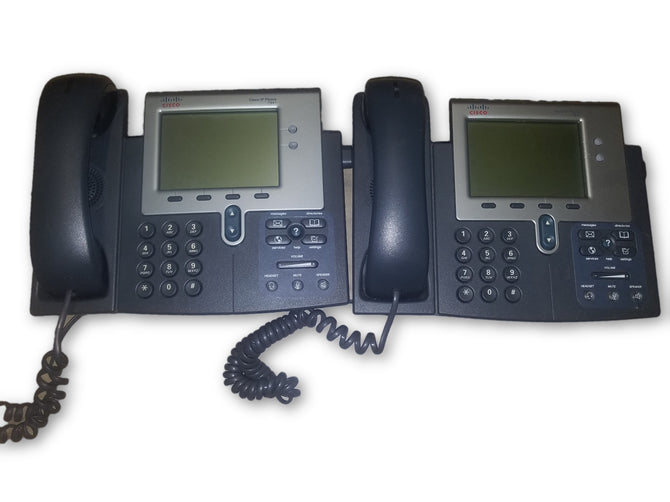 Lot of 2 Cisco IP Phone 7941 Series VoIP Office Telephones