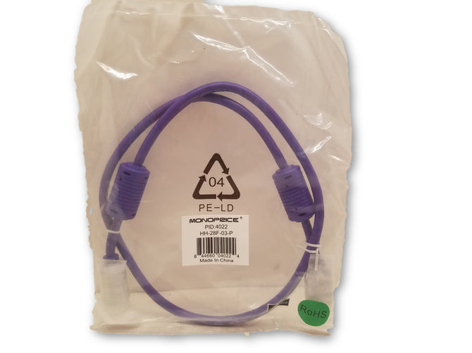 New Monoprice HDMI Cable Purple HH-28F-03-P PID:4022