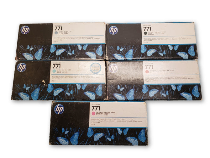 Lot of 5 OEM HP 771 Ink Cartridge Z6200 Z6800 B6Y22A