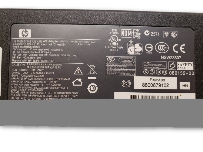Original HP 150W AC Adapter HSTNN-LA09 462603-001 PA-1151-03 463954-001
