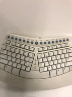 Microsoft Natural Keyboard Pro Ergonomic USB PS/2 Ergo RT9401- 2 USB Port