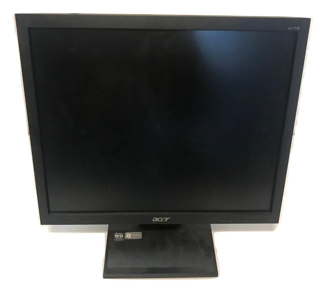 ACER V173 17'' LCD Flat Panel Monitor- Comes with Power and VGA Cable