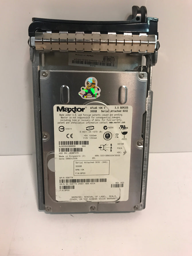 "8J300S0 Maxtor Atlas 10K V 300GB Internal 10000RPM 3.5"" HDD"