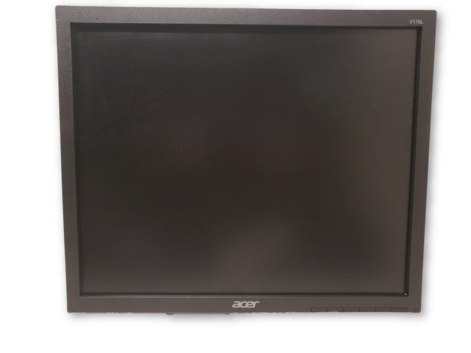 ACER V176L 17'' LCD Flat Screen Monitor With VGA & Power Cables No Stand