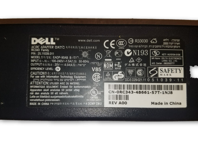 Genuine Dell Laptop Charger AC Adapter Power Supply EADP-90AB B