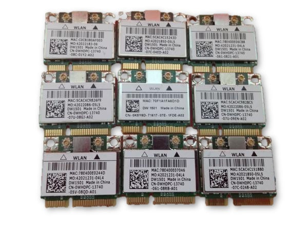 9x Dell M5010 BCM94313HMG2L Wireless Half Mini Card DW 1501