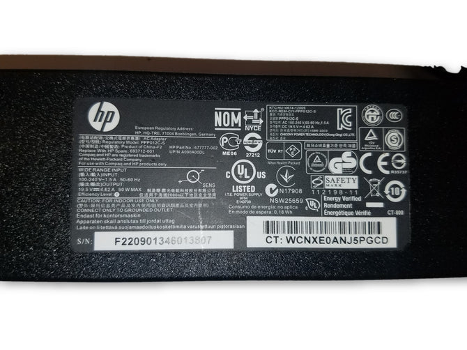 Genuine HP  90W 19.5V 4.62A Ac adapter 677777-002 693712-001 PPP012C-S